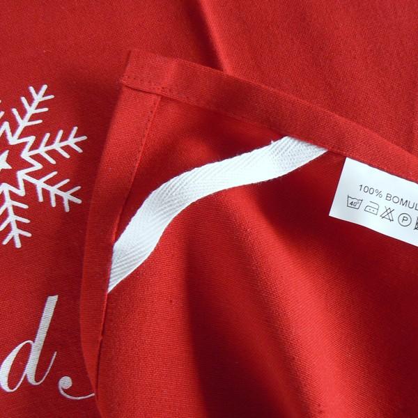 """Rotes Geschirrtuch """"God Jul"""" mit Übereck-Aufhänger"""