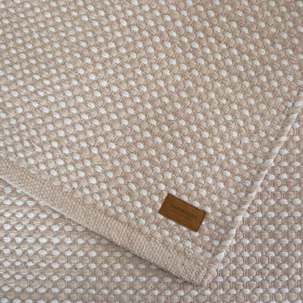 Teppich Vilde puder weiß 70x140 cm Baumwolle