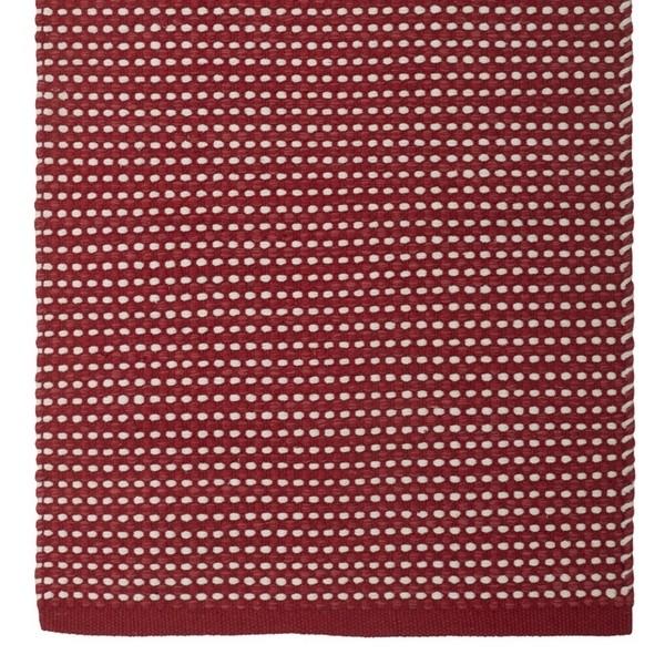 Teppich Vilde weinrot weiß 70x140 cm
