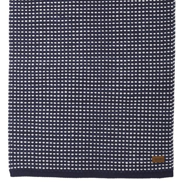 Teppich Vilde blau weiß aus Baumwolle gewebt