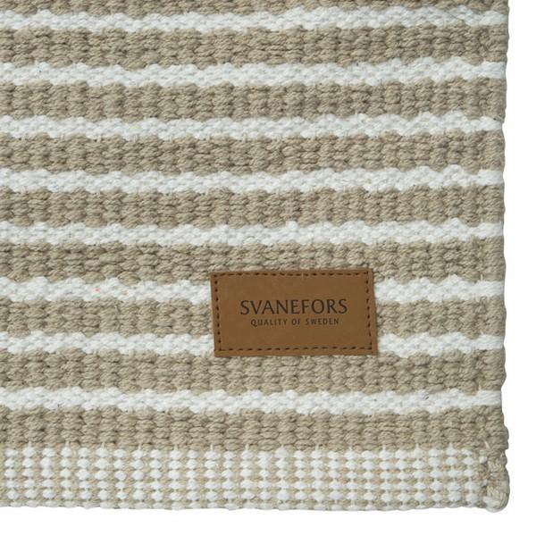 Läufer beige gestreift 70x140 cm Baumwolle