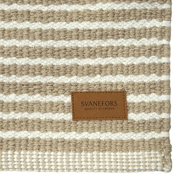 Skandinavischer Landhausstil: Teppich beige gestreift 70x240 cm Baumwolle