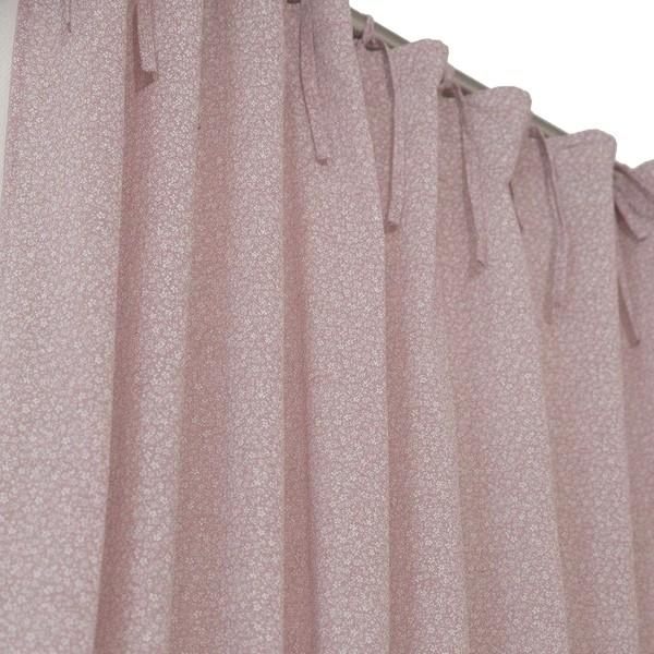 """Gardinenschal """"Smilla"""" rosa mit Schleifenbändern 2er-Set"""