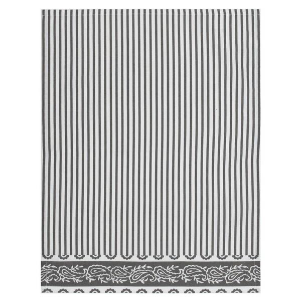 Baumwoll Geschirrtuch grau weiß gestreift