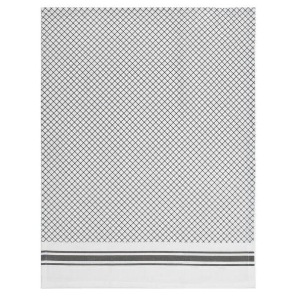 Baumwoll Geschirrtuch grau weiß Rauten