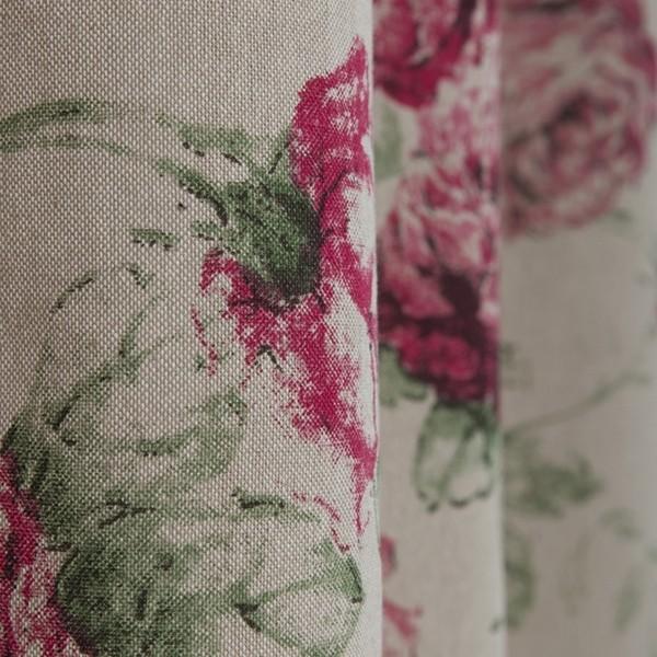 """Gardinenschal / Vorhangschal """"Rosen"""" aus Baumwolle"""