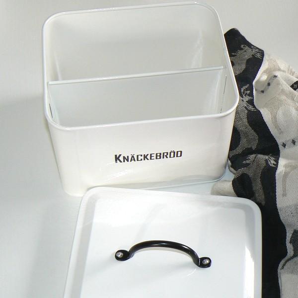 Knäckebrotdose schwarz-weiß für zwei Sorten