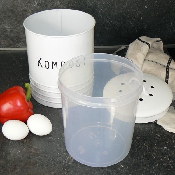 """Dose für Kompost mit Kunststoffeinsatz  """"Svarte Petter"""""""