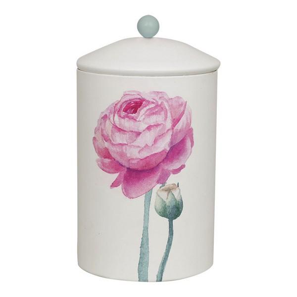 "Romantische Vorratsdose Keksdose ""Rose"" creme-rosa-mint aus Metall mit Gummidichtung"