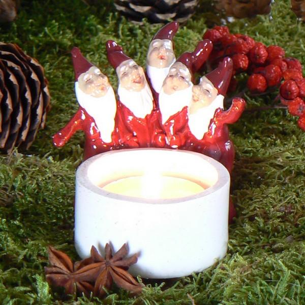 Harvesttime Teelichthalter Tomtechor rot