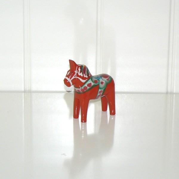 Urlaubsmitbringsel aus Schweden: Dalapferdchen 7 cm rot