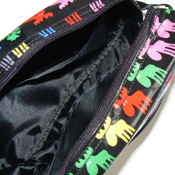 Abwischbare Innentaschen der Kulturtasche Mias binte Elche