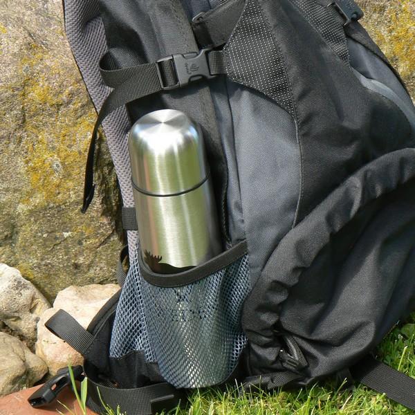 Für Schwedenfans: Thermosflasche 0,5 l Edelstahl mit Elchmotiv