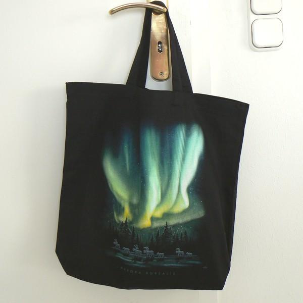 Einkaufstasche / Einkaufsbeutel / Shopper Polarlicht aurora borealis