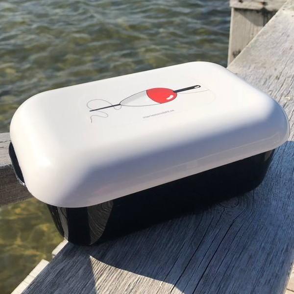 Frozzypack Brotdose mit Kühlfunktion im Deckel, maritimes Motiv