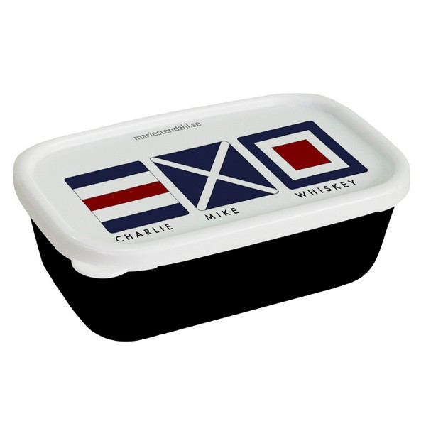 Minibox mit Flaggenalphabet