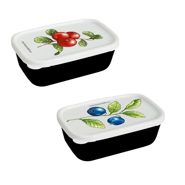 2 Minidosen mit  Blaubeer-, Preiselbeer-Motiv