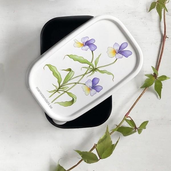 Minibox mit Ackerveilchen Dekor