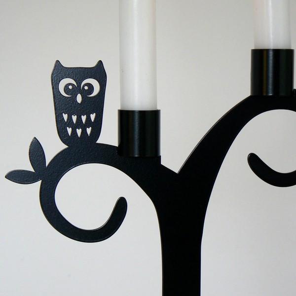 Pluto Produkter Kerzenhalter / Kerzenleuchter Eule aus Schweden