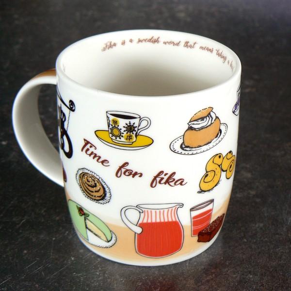 Origineller Kaffeebecher für die schwedische Kaffeepause