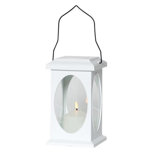 """LED-Laterne """"Flamme"""" weiß mit Timer und Flackereffekt"""