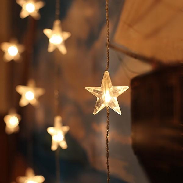 LED-Sternengardine 120x90cm bestehend aus 30 Sternen