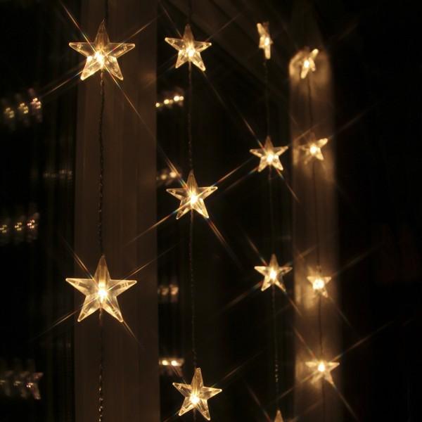 LED-Sternengardine 90x200cm bestehend aus 50 Sternen
