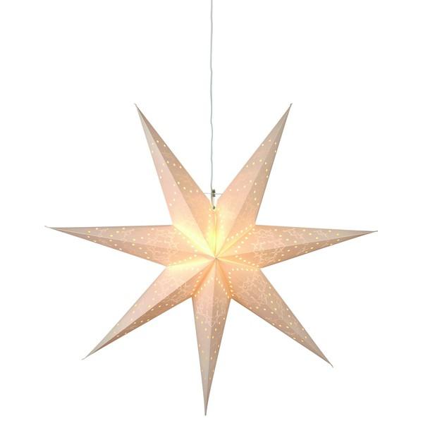 """skandinavischer Leucht-Stern """"Sensy Star"""" 100 cm creme hängend"""
