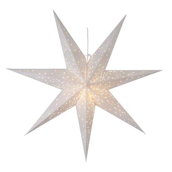 """Großer Leucht-Stern """"Galaxy"""" weiß 100 cm hängend mit Sternbildern"""