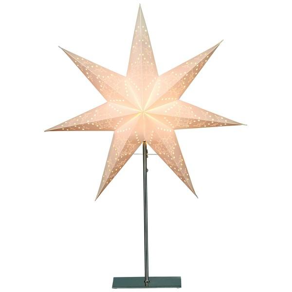 "Skandinavische Standleuchte ""Sensy Star"" creme 78 cm"
