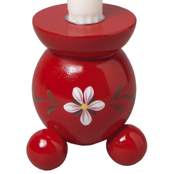 Typisch Schwedisch: Kugelleuchter Blüte rot