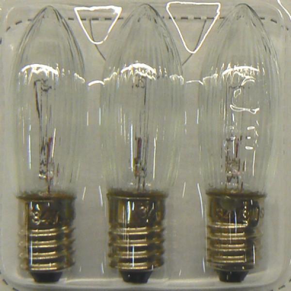 3 Ersatzglühlampen für die unten abgebildeten Lichterbögen und Fensterleuchter