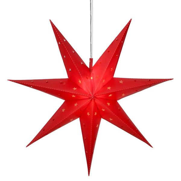 LED-Leucht-Stern für den Außenbereich rot Batteriebetrieb mit Timer