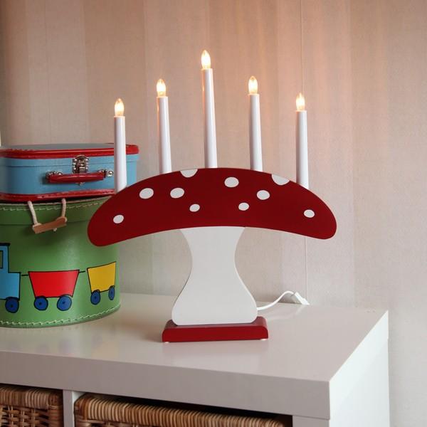 schwedischer Lichterbogen Fliegenpilz Kinderzimmer