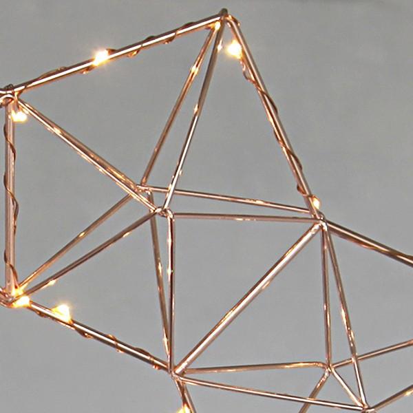Skandinavische Weihnachtsbeleuchtung LED-Leuchtstern kupferfarben