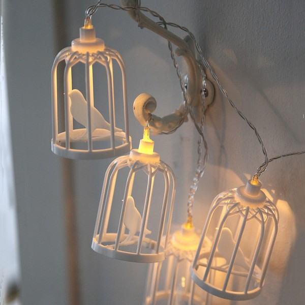 LED-Lichterkette Vogelkäfig batteriebetrieben mit Timer
