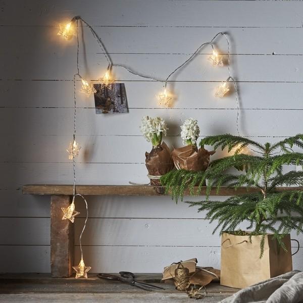 """LED-Lichterkette """"Sternenclips"""" Batteriebetrieb mit Timer"""