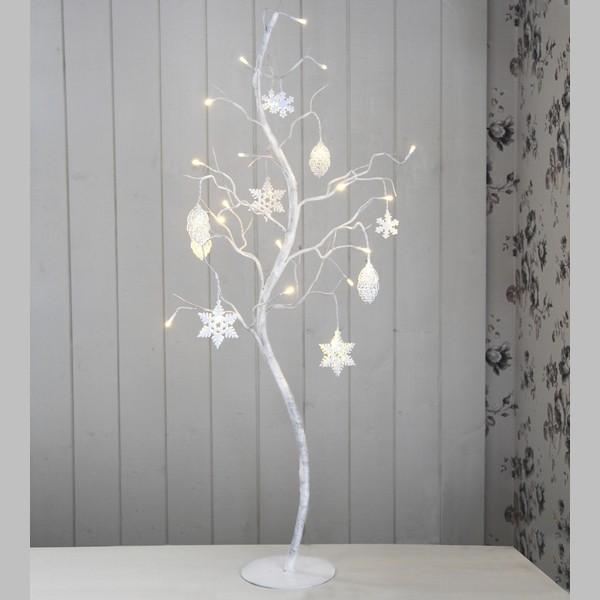 """Schwedischer LED-Dekobaum """"Dekora"""": Birke mit 27 LEDs in weiß"""