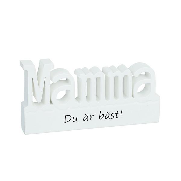 """Schwedische Holzbuchstaben """"Mama, du bist die Beste"""""""
