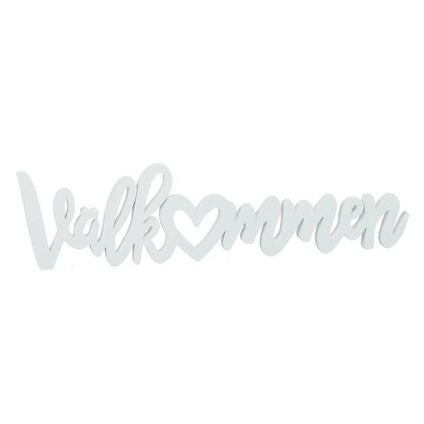 """Schwedischer Schriftzug """"Välkommen"""" aus Holz"""
