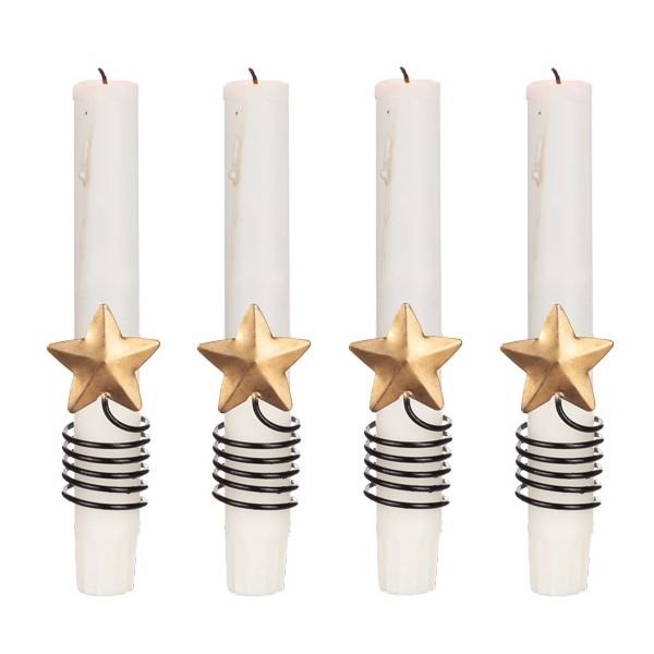 Kerzendekoration Stern 4er-Set ausMetall