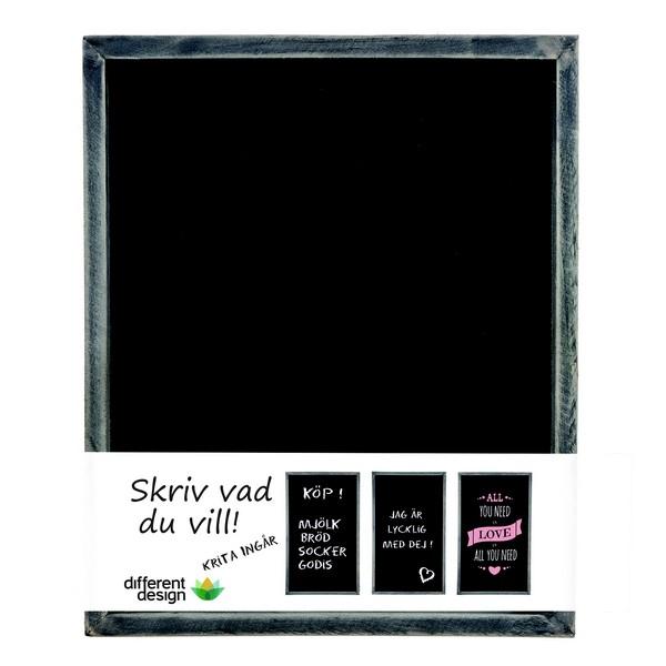 Schwarze Wandtafel Kreidetafel 30 x 25 cm zum Beschriften