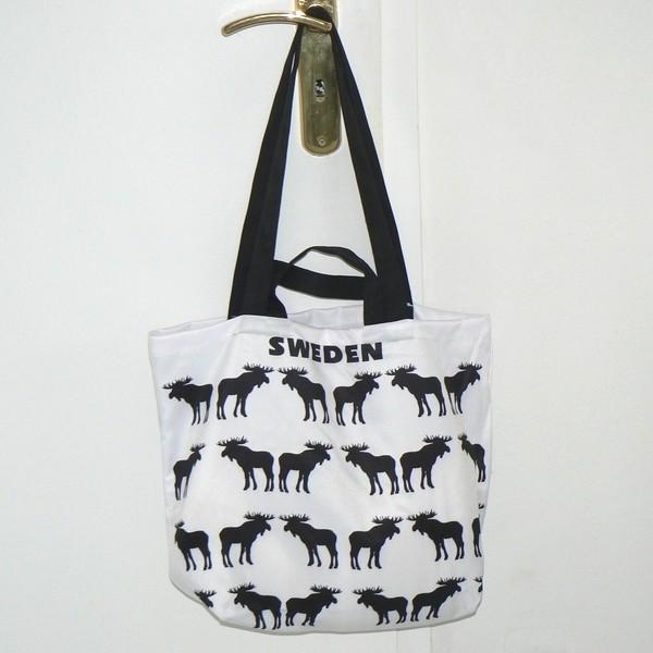 Einkaufstasche / Einkaufsbeutel schwarze Elche