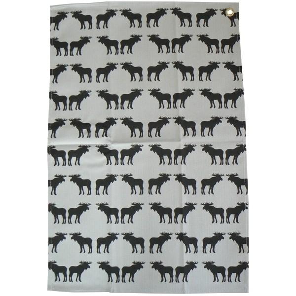 Küchenhandtuch schwarze Elche aus Baumwolle