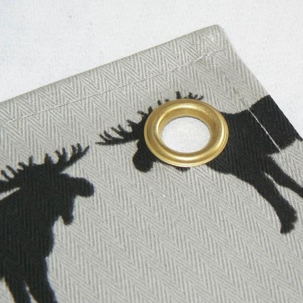 Küchenhandtuch schwarze Elche mit Metallöse