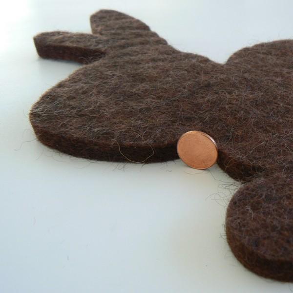 Topfuntersetzer Hase aus Wollfilz