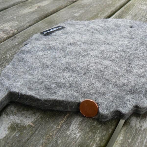 Dicker Topfuntersetzer in Fisch Form aus Wollfilz