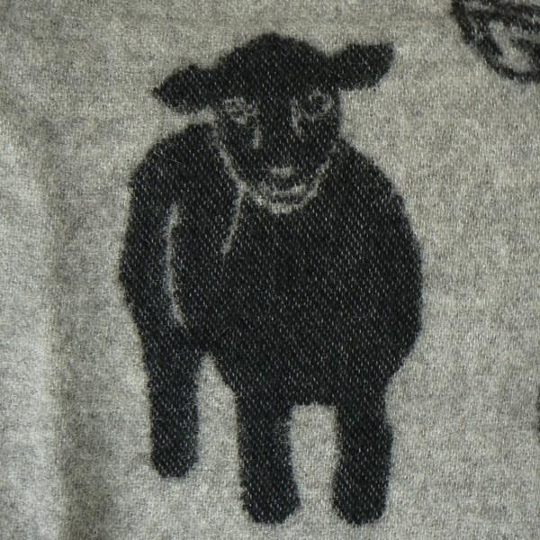 Wolldecke aus Schweden grau schwarz