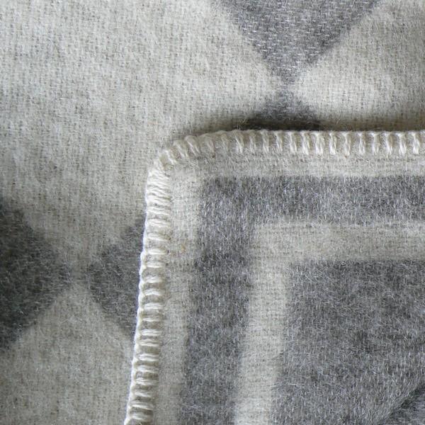 Wolldecke Schweden wollweiß-taupe