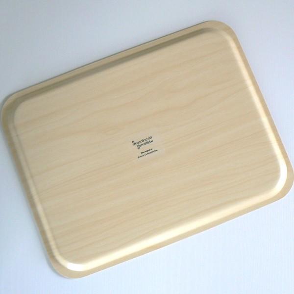 Rechteckiges Seerosen Tablett aus Birkenfurnier: Unterseite